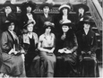 Alice Paul seated in middle front row
