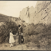 1923 Alice Paul, leader of the feminist movement in America and vice president of the Woman's Party with Mildred Bryan, youngest Colorado feminist in the Garden of the Gods at Colorado Springs