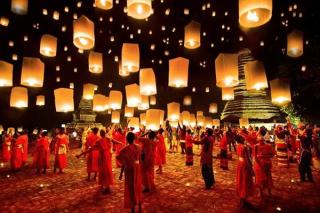 Lanterns in air