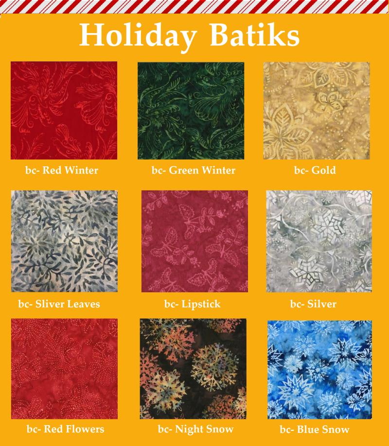 Holiday batiks