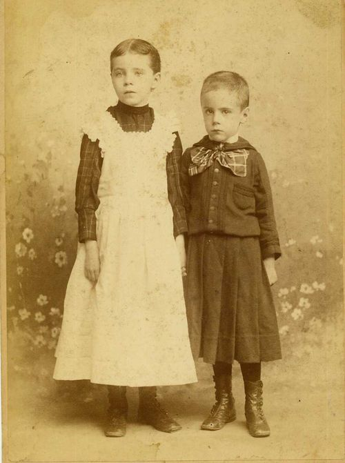 1891 Alice with brother William