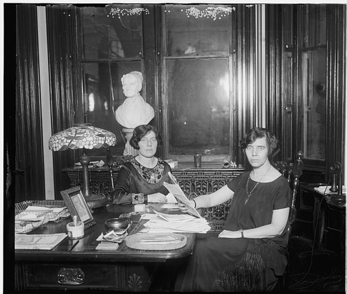 1925 Mrs Margaret Connery and Alice Paul