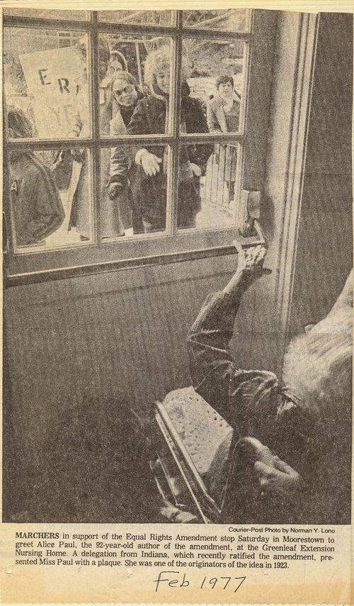 1977 Alice Paul at the window