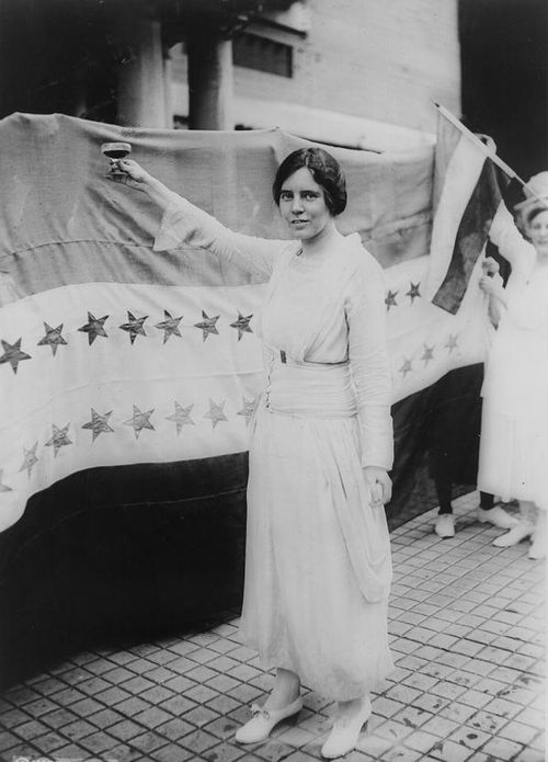 1920 Alice Paul toasting TN vote