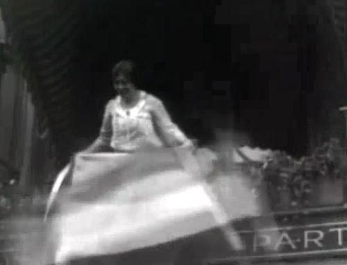 1920 Unfurling Suffrage Banner