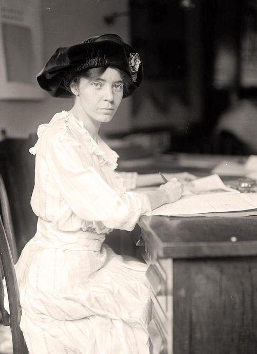 Alice Paul at desk