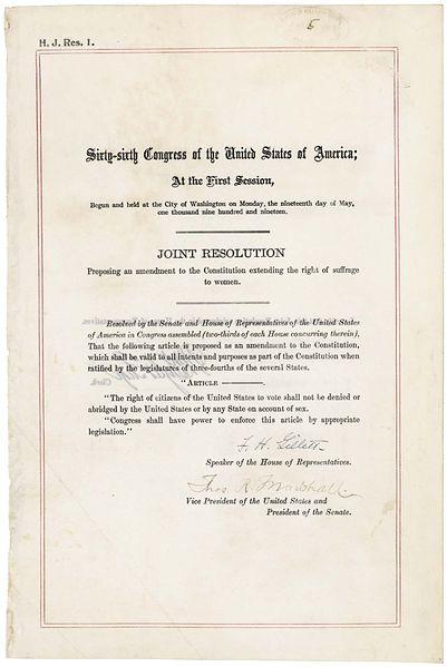 1920 19th Amendment