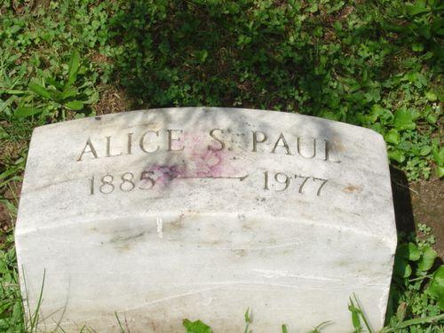 1977 Alice Paul grave stone