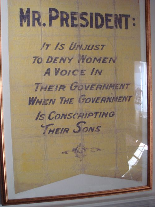 Sewall Belmont banner ~ Mr. President