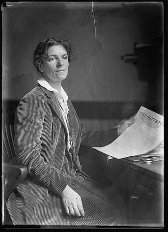 Rheta Dorr with 1st edition Suffragist