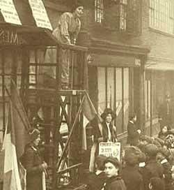 Sylvia Pankhurst at Suffrage Shop